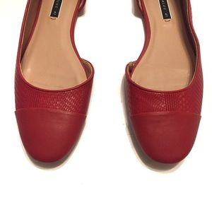 Zara Shoes - Zara Trafaluc Red D'Orsay Flat